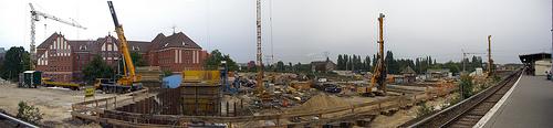 Baustellen-Panorama Ostkreuz
