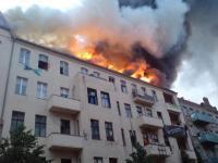 Rigaer84 in Brand